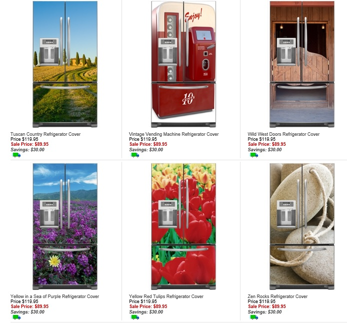 Fridge Fronts French Door Refrigerator Magnetic Covers  Su0026le Designs