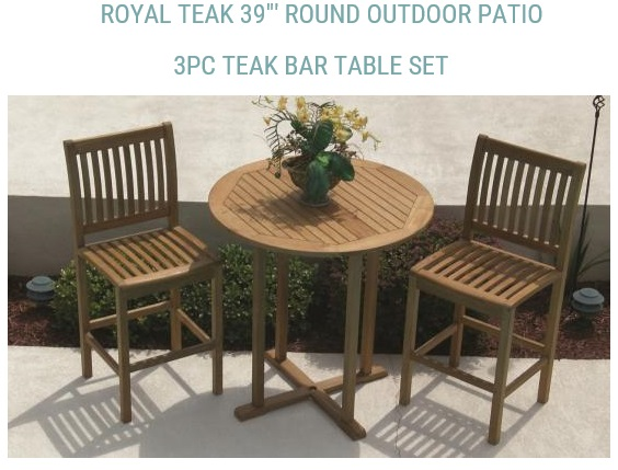 Royal Teak Collection Makes A Number Of Smaller Wooden Chair And Table  Sets, Including Handy Semi Circle Tables For Those Who Have Narrow  Balconies U2014 The ...